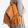 Sociology Suede Fringe Backpack | Groupon Exclusive
