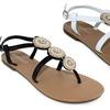Olivia Miller Genoa Women's 3-Circle Rhinestones Sandals