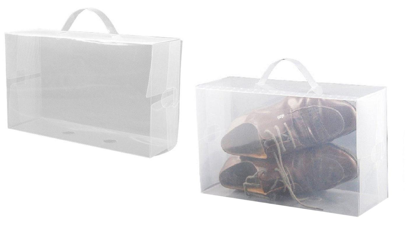 5, 10 or 15 Transparent Shoes or Boots Storage Boxes for £5.90