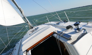 Sailtime: Two- or Four-Hour Private Sailing Cruise with Wine or Champagne and Cheese for Six from Sailtime (Up to 35% Off)
