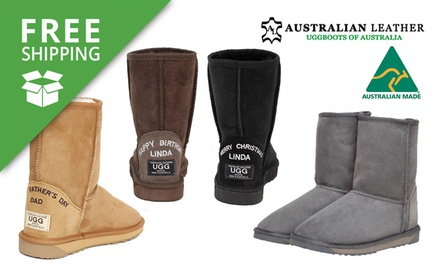 for a Pair of Australian Leather Personalised UGG Boots Don't Pay up to $259