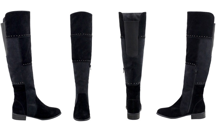 Olivia Miller Bedford Women's Studded Over the Knee Boots (Size 8.5)