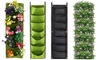 One or Two Seven-Pocket Hanging Planting Grow Bags