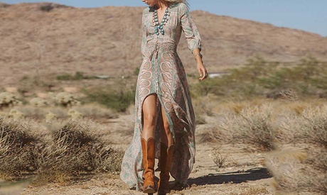 Vestido Boho Long Dress