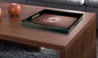 NCAA Distressed Wooden Serving Tray in 44 styles
