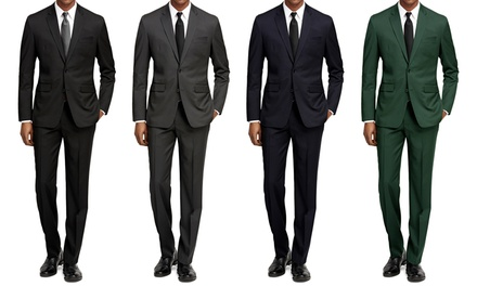 Braveman Slim-Fit Suits with Free Tie and Dress-Socks
