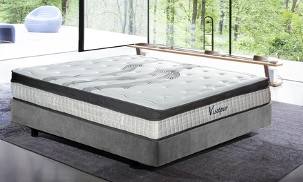Matelas Viscopur mémoire de forme et latex marque Nupsia Prestige, fabrication française, sommier en option