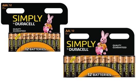 12, 24 ou 36 Piles Duracell Simply AA ou AAA