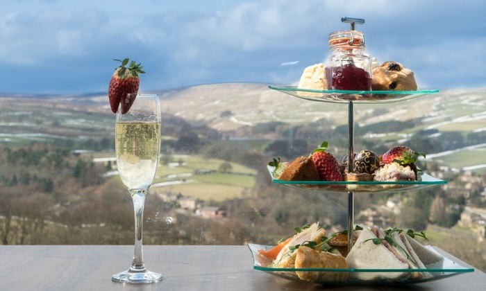Afternoon Tea or Brunch with Tour and Wine Tasting for Two or Four at Holmfirth Vineyard