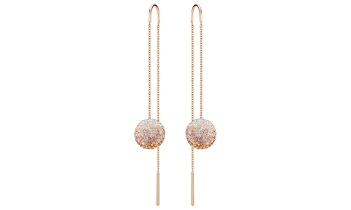 Rose Gold Circular Sugar Threader Earrings By Jewelry Elements