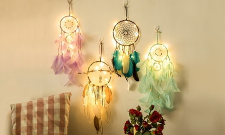 Atrapasueños decorativo con LED