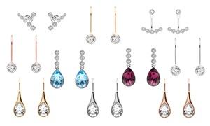 (Bijou)  Boucles d'oreilles cristaux Swarovski® -94% réduction