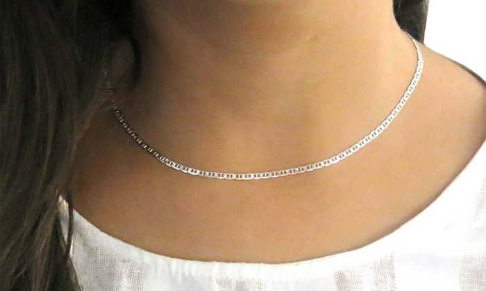 chain chains necklace necklaces italian tier silver sterling
