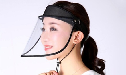 One or Two AntiDroplet Transparent Top Hat Face Masks