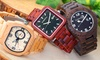 Earth Wood Herren-Armbanduhr