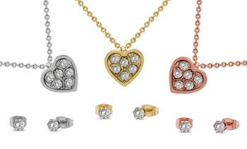 Crystal Heart Jewellery Set made with Crystals from Swarovski®