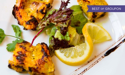 Indian Cuisine: €40 Toward Food and Drinks for Two at Vermilion (50% Off)