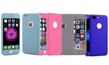 1 of 2 360° volledige beschermhoesjes voor iPhone 6/6S en 6 Plus/6S Plus incl. gehard glas screenprotector
