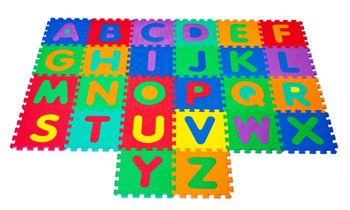 Foam Floor Alphabet Puzzle Groupon Goods
