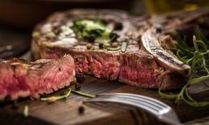 Claudios Restaurant & Bar: Tomahawk-Steak am Tisch tranchiert mit Beilagen für 2 oder 4 Personen in Claudios Restaurant & Bar (bis zu 42% sparen*)