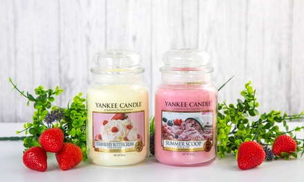 One, Two or Four Yankee Candle Large Jars in Summer Scents