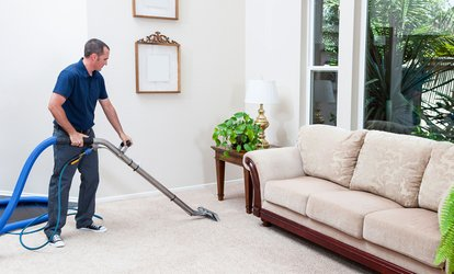 image for Carpet Cleaning for Two Rooms with Nationwide UK Cleaning (55% Off)