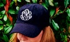 Embellish Accessories and Gifts: One or Two Custom Monogrammed Baseball Caps from Embellish Accessories and Gifts (Up to 76% Off)