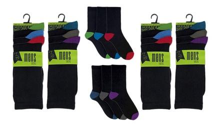 Packs de 12 o 24 pares de calcetines para hombre