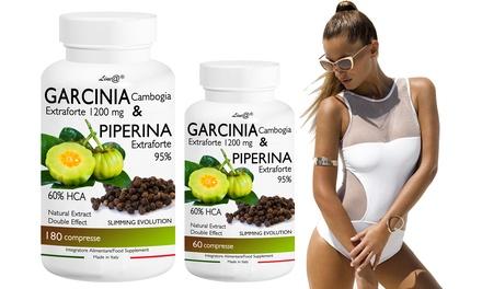 Fino a 720 compresse di Garcinia e Piperina Line@Diet Extra Forte trattamento di 12 mesi