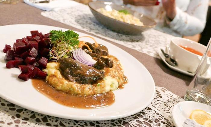 Kołdun i Kluska - Tychy: Zupa, danie główne (74,99 zł) i deser (89,99 zł) dla 2 osób i więcej w restauracji Kołdun i Kluska w Tychach (do -38%)