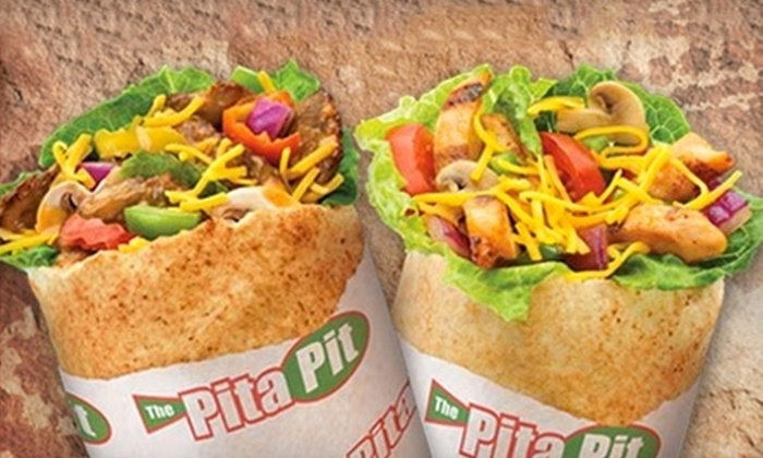 Pita Pit - Chapel Ridge: Pita Wraps with Chips and Drinks for Two or Four at Pita Pit (Up to 54% Off)