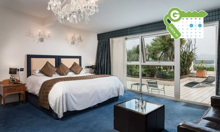 Newquay: Superior Sea View Room or Sea View Suite, Leisure Access, Breakfast and Prosecco or Dinner at 4* Atlantic Hotel