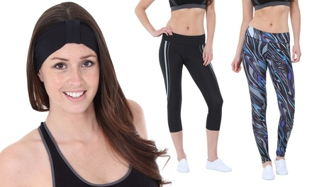 Sportlegging en hoofdband van Blu Apparel in lengte, maat en kleur naar keuze