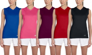 New Balance Women's Sleeveless V-Neck Active T-Shirt (2-Pack)