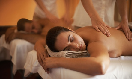 50- or 80-Minute Full-Body Couples Massage at A Serenity NOW Massage Z Spa (Up to 36% Off)