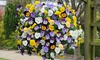 Two Preplanted Cool Wave Pansies in Baskets