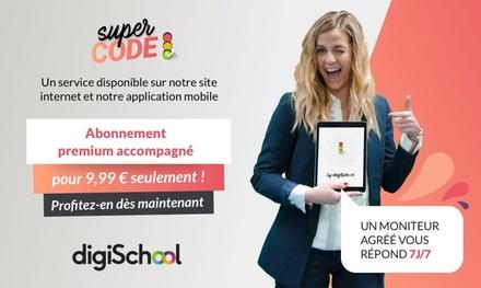 Abonnement code de la route avec monitrice à disposition à 9,99 €/mois à vie sur le site DigiSchool (-75% de réduction)