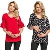 Half-Sleeve Maternity Top