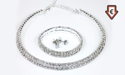 Déstockage Parure 2 rangs de la marque Victorias Candy ornées de cristaux Swarovski®