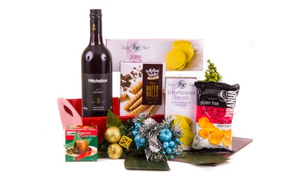 Groupon Exclusive Free Shipping: From $39 to $99 Gift Packaged Christmas Hampers with Wine and Goodies