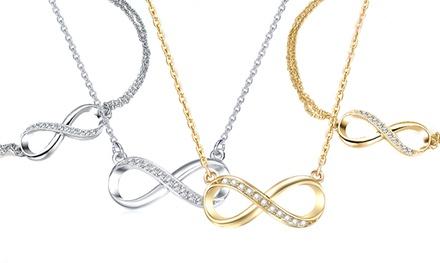Infinity ketting en armband, 12 kt verguld, met Swarovski® kristallen, vanaf € 12,99 gratis bezorgd, tot korting