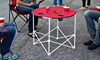 NCAA 30'' Round Table with Drink Holders: NCAA 30'' Round Table with Drink Holders