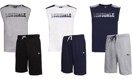 Set composto da pantaloncini e t-shirt smanicata Lonsdale disponibile in 3 colori e 4 taglie