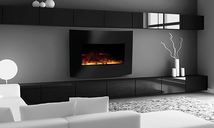 2 In 1 1500w Electric Fireplace Groupon Goods