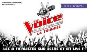 Tournée The Voice: 1 place pour la tournée ''The Voice'', catégorie au choix, le 6 juillet 2017 à 20h, dès 17,50 € au Zénith de Strasbourg