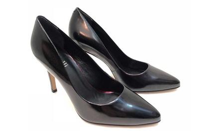 Leder-Schuhe mit hohem Absatz in Schwarz (Statt: 109,00 € Jetzt: 41,98 €)