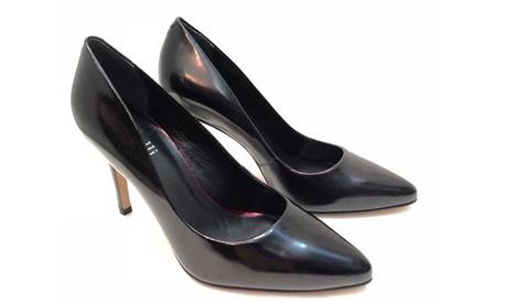 Zapatos negros de piel de tacón alto Oferta en Groupon