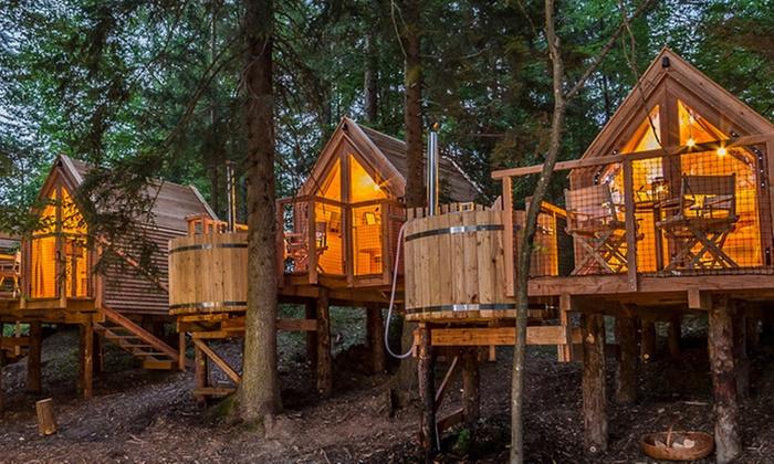 Glamping ribno groupon for Case in legno sugli alberi