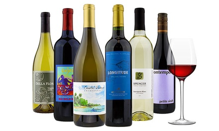 4 or 6 Bottles of Curated Premium Wines Plus a $20 Gift Card from Heartwood & Oak (Up to 77% Off)