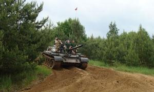 Muzeum Mrągowo: Jazda po dawnym poligonie za sterami czołgu T-55 za 1249 zł w Muzeum Mrągowo